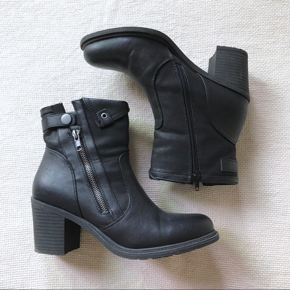 Moto Ankle Booties Boots
